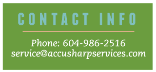 Contact Info | Phone 604-986-2516, service@accusharpservices.com